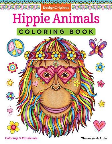9781497202085 Hippie Animals Coloring Book Is Fun Design Originals 32