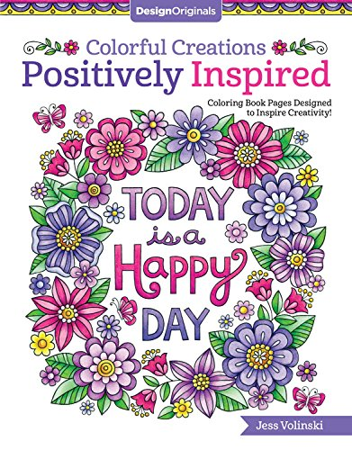 9781497202603 Colorful Creations Positively Inspired Coloring Book Pages Designed To Inspire Creativity