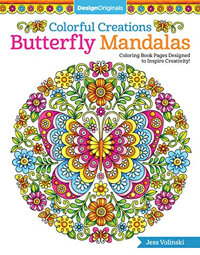 9781497202610: Colorful Creations Butterfly Mandalas: Coloring Book Pages Designed to Inspire Creativity!