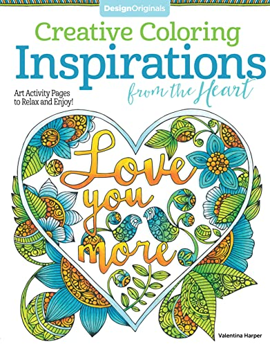 Inspirations From The Heart Art Activity Pages To Relax