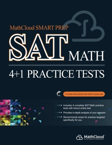 9781497326101: MathCloud Smart Prep SAT Math: 4+1 Practice Tests