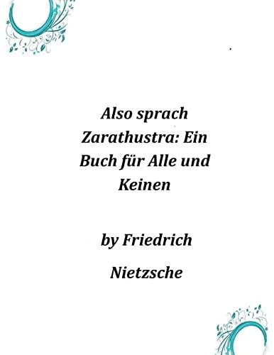 9781497377813: Also sprach Zarathustra: Ein Buch für Alle und Keinen (German Edition)