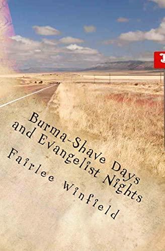 9781497476523: Burma-Shave Days and Evangelist Nights