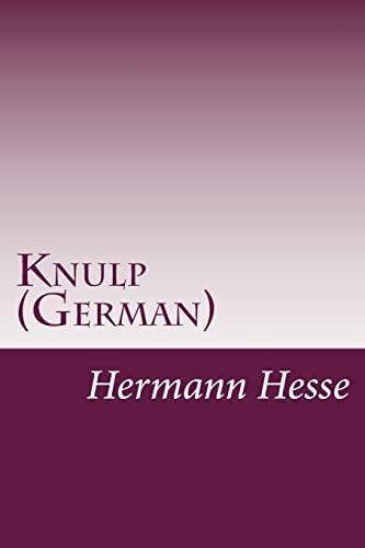 9781497535930: Knulp (German) (German Edition)