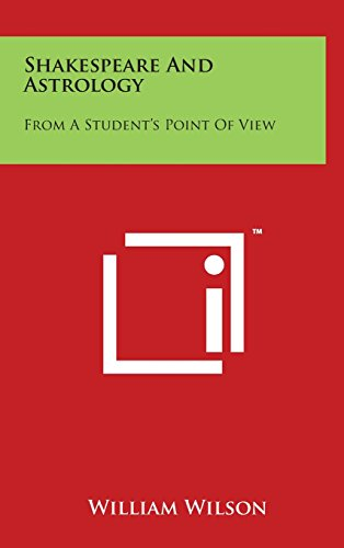 9781497832008: Shakespeare and Astrology: From a Student's Point of View