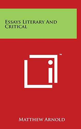 9781497854154 - Arnold, Matthew: Essays Literary and Critical - Book