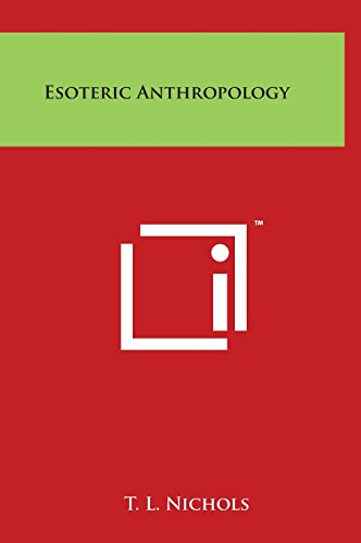 9781497900288: Esoteric Anthropology