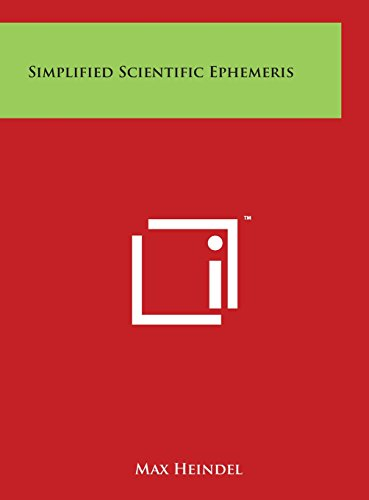 9781497914704: Simplified Scientific Ephemeris