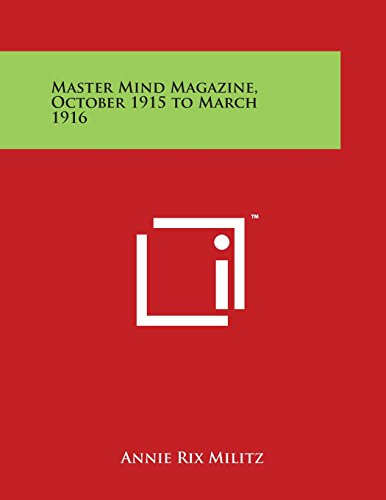 9781497989955: Master Mind Magazine, October 1915 to March 1916