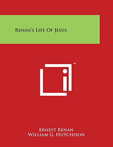 9781498031196: Renan's Life of Jesus