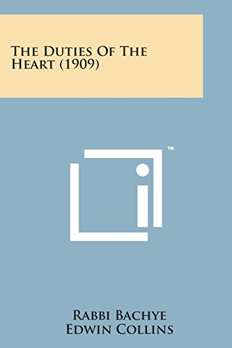 9781498176873: The Duties of the Heart (1909)