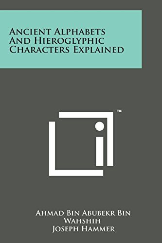 9781498190237: Ancient Alphabets and Hieroglyphic Characters Explained