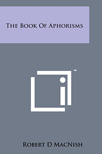9781498190701: The Book of Aphorisms