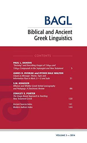 9781498234757: Biblical and Ancient Greek Linguistics, Volume 3