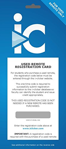 9781498601115: Used Remote Registration Access Card