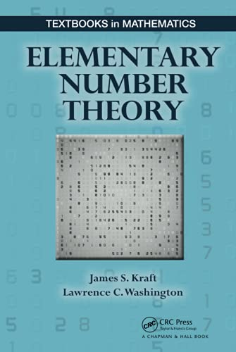 9781498702683: Elementary Number Theory (Textbooks in Mathematics)