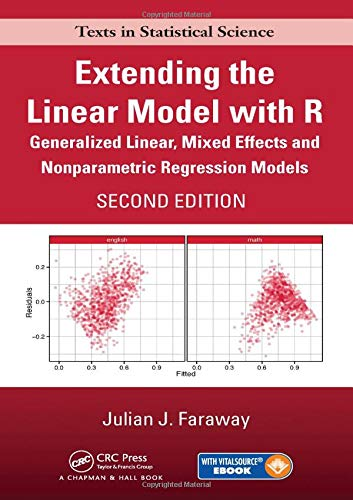 Download Extending the Linear Model with R: Generalized Linear, Mixed Effects and Nonparametric Regression Models, Second Edition (Chapman & Hall/CRC Texts in Statistical Science)