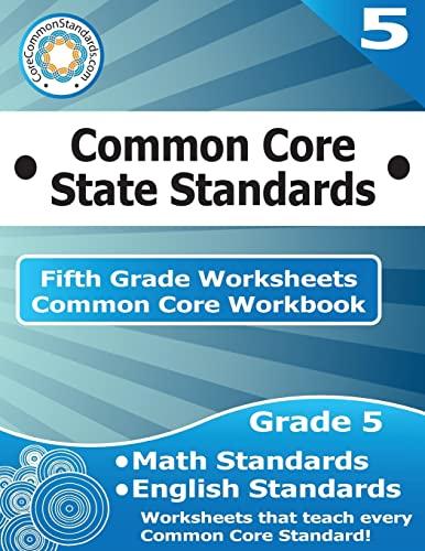 9781499232004: Fifth Grade Common Core Workbook: Worksheets