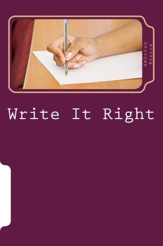 9781499389548: Write It Right: A Little Blacklist of Literary Faults