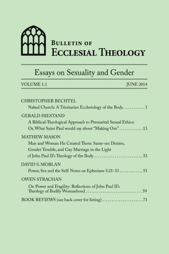 theology of the body essays Theology of the body explained - a traditional catholic view the following essay is part of don pietro leone's book on marriage and theology of the body.