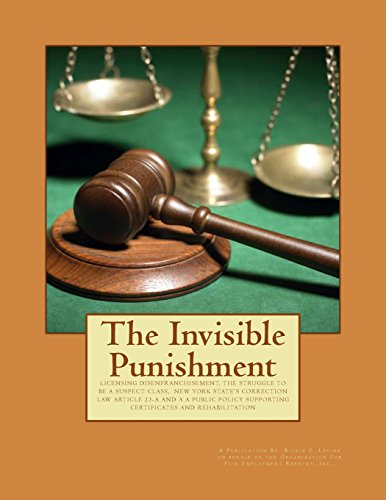 9781499650181: The Invisible Punishment: Understanding New York Correction Law Article 23-A and The Public Policy of New York