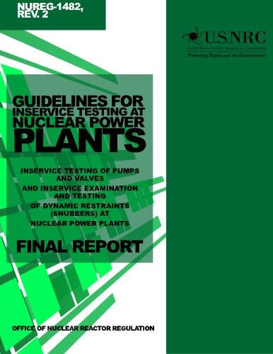 Guidelines for Inservice Testing at Nuclear Power: U S Nuclear