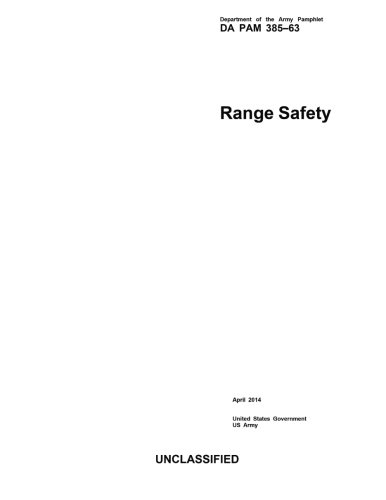 9781499684933: Department of the Army Pamphlet DA PAM 385-63 Range Safety April 2014