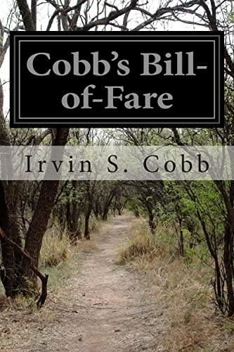 9781499698008: Cobb's Bill-of-Fare