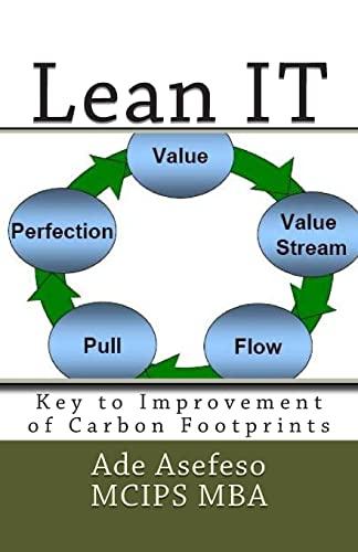 9781499774283: Lean IT: Key to Improvement of Carbon Footprints