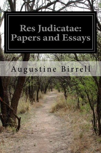 9781499780031: Res Judicatae: Papers and Essays