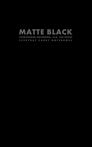 9781500147136: Matte Black Storyboard Notebook, 5x8, 100 Pages