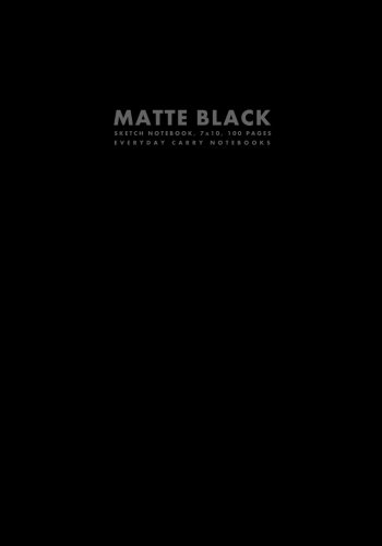 9781500178901: Matte Black Sketch Notebook, 7x10, 100 Pages (Workbook Sized Notebooks)