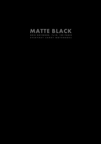 9781500178925: Matte Black Grid Notebook, 7x10, 100 Pages (Workbook Sized Notebooks)