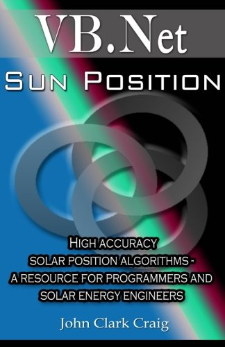 9781500179472: Sun Position: High accuracy solar position algorithms - a resource for programmers and solar energy engineers (VB-2012 Programming by Example) (Volume 2)