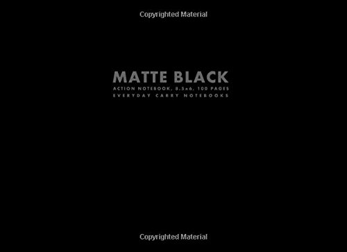 9781500183806: Matte Black Action Notebook, 8.5x6, 100 Pages (Widescreen Notebooks)