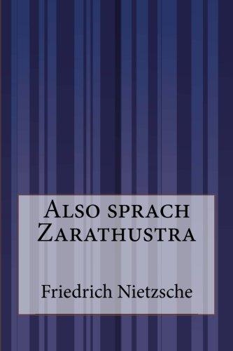 9781500201128: Also sprach Zarathustra