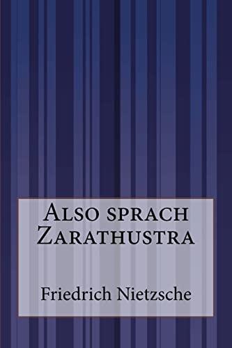 9781500201128: Also sprach Zarathustra (German Edition)