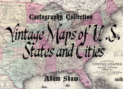 9781500256821: Vintage Maps of U.S. States and Cities