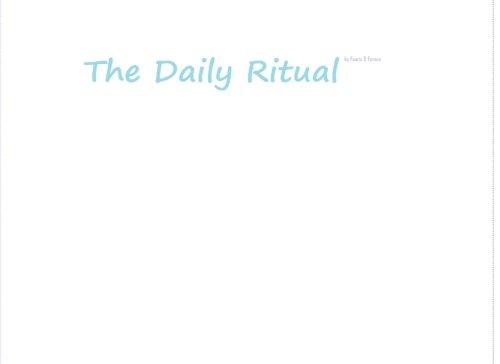 9781500259457: The Daily Ritual: by Fenris & Farson