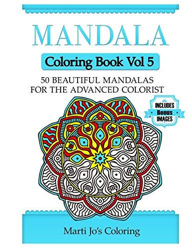9781500389512: Mandala Coloring Book Vol 5: 50 Advanced Mandala Patterns