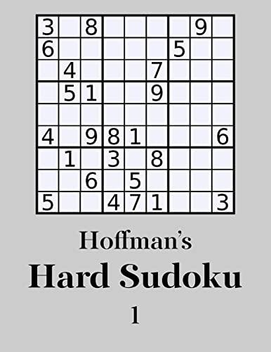 9781500441593: Hoffman's Hard Sudoku 1: 250 Challenging Puzzles (Volume 1)