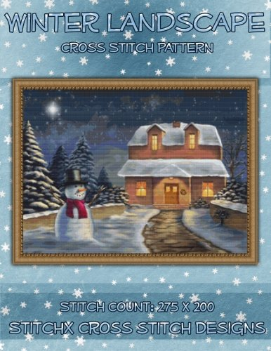 9781500454166: Winter Landscape Cross Stitch Pattern
