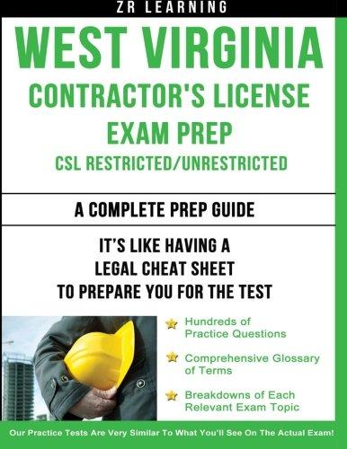 9781500458157: West Virginia Contractor's License Exam Prep