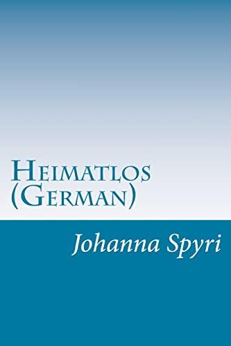 9781500467838: Heimatlos (German)