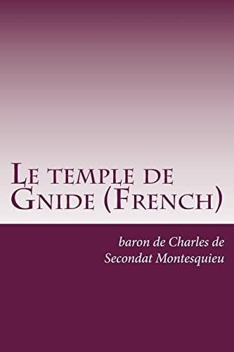 Le temple de Gnide (French) (Paperback): Baron De Charles