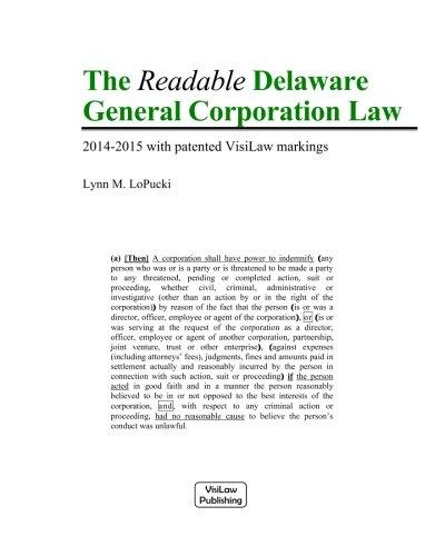 The Readable Delaware General Corporation Law: LoPucki, Lynn M.