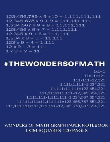 9781500532826: Wonders of Math Graph Paper Notebook 120 pages with 1 cm squares: 8.5 x 11 inch notebook with blue cover, graph paper notebook with one centimeter ... sums, composition notebook or even journal