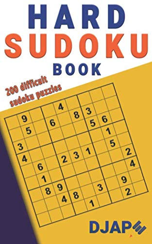 9781500568252: Hard Sudoku Book: 200 Difficult Sudoku Puzzles (Volume 1)