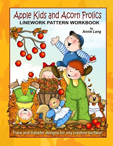 9781500623470: Apple Kids and Acorn Frolics: Linework Pattern Workbook