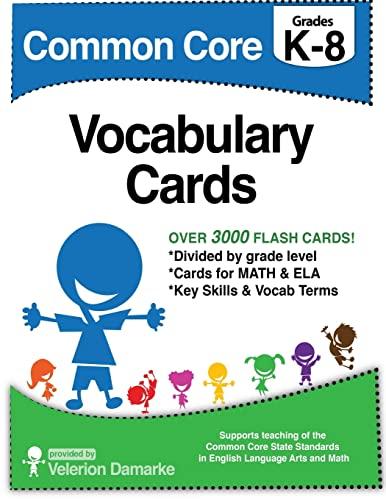 9781500674991: Common Core Vocabulary Cards: Black & White Version